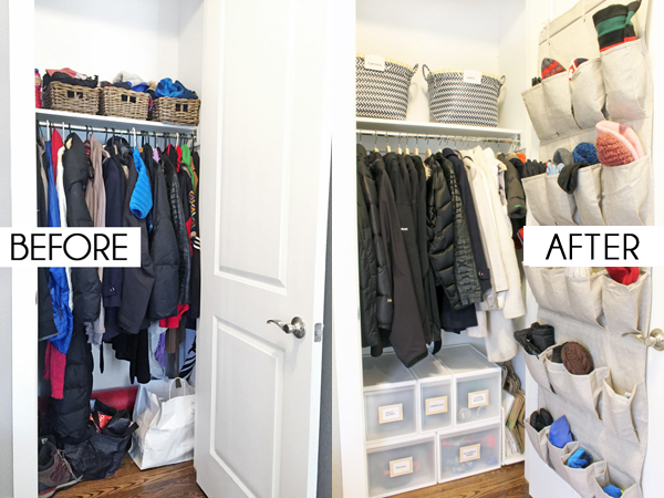 Incroyable Coat Closet Storage Before And After