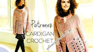 Patrones de bello cárdigan a crochet