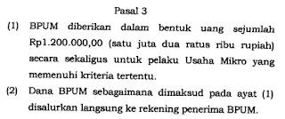 Berapa dana bantuan UMKM 2021