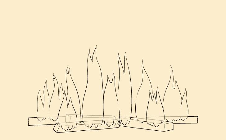 Gambar api api
