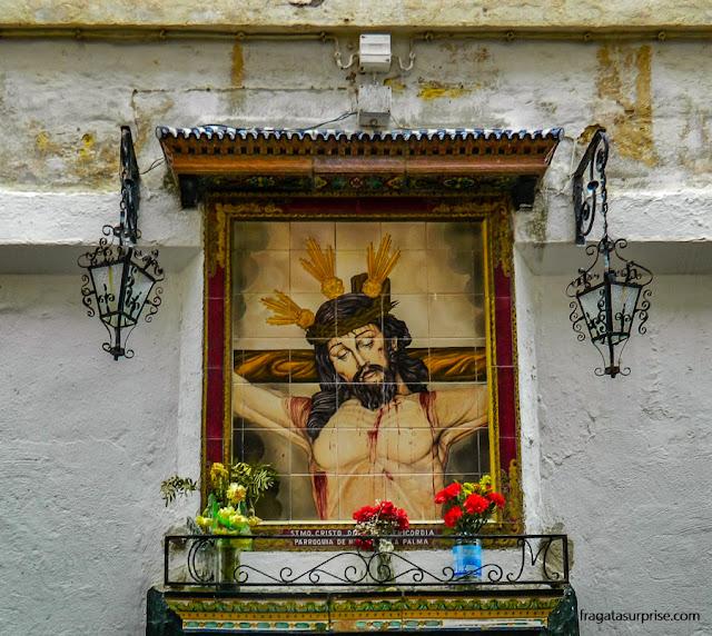 Oratório de rua em Cádiz, Andaluzia
