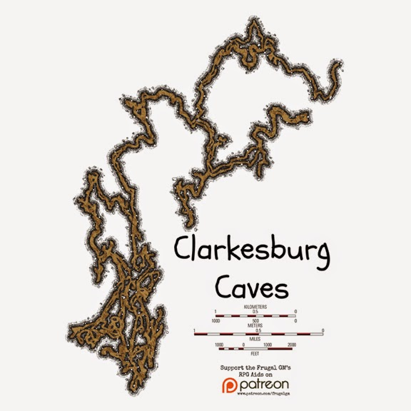 Patreon Map043: Clarkesburg Caverns