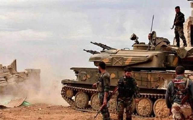 وحدات الجيش السوري تواصل تقدمها في البادية السورية.