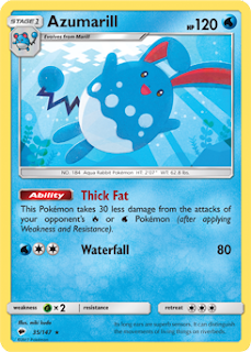 Azumarill Burning Shadows Pokemon Card