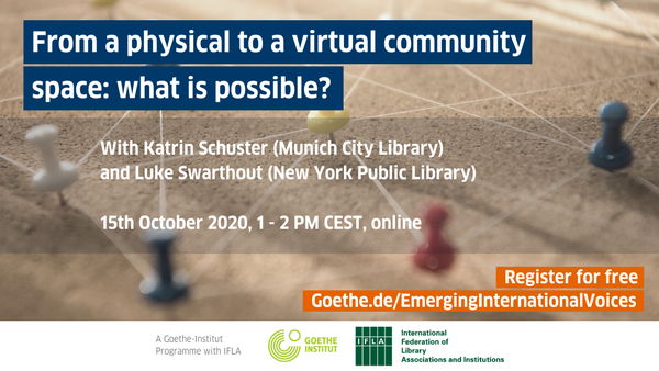 [FREE webinar] From a Physical to a Virtual community space: what is possible?