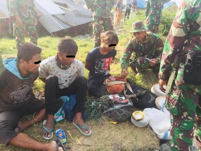 Satgas Divif 3 Kostrad Amankan Pelaku Pencurian di Palu Barat