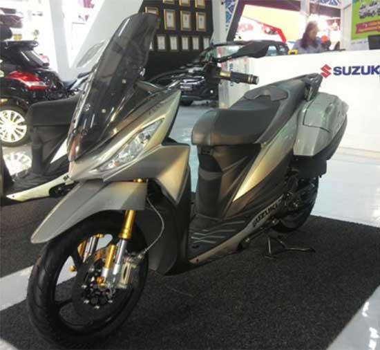 Modifikasi Motor Suzuki Address Terbaru, Skutik Jumbo Bro!