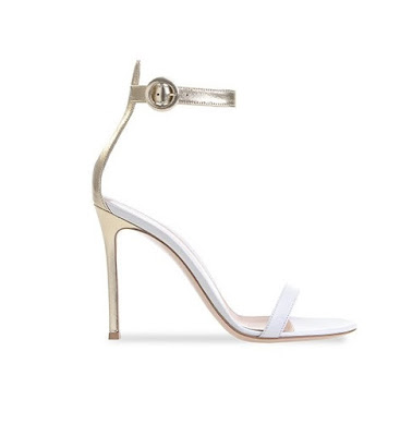 Gianvito Rossi Spring Summer 2016 Shoes Portofino metalllic barely there heels
