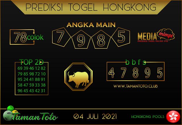 Prediksi Togel HONGKONG TAMAN TOTO 04 JULI 2021