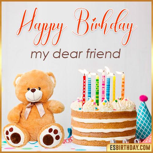 happy birthday my dear friend