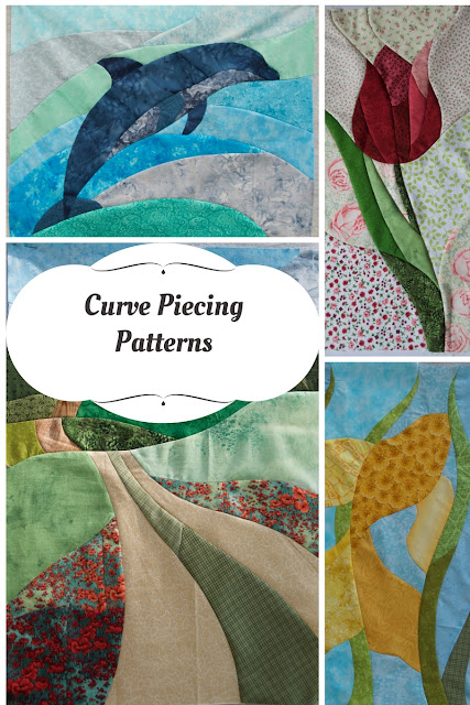 Curve piecing patterns