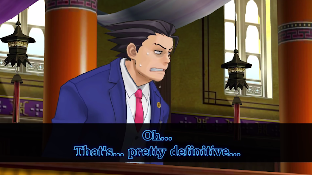 Phoenix Wright that's pretty definitive Divination Séance water mirror trailer Ace Attorney Spirit of Justice