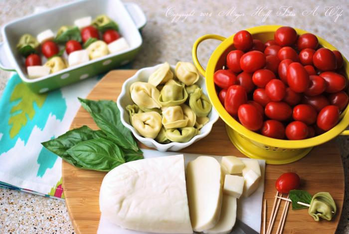 Margherita Style Tortellini Skewers