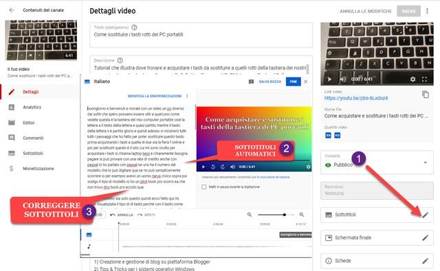 sottotitoli automatici su Youtube