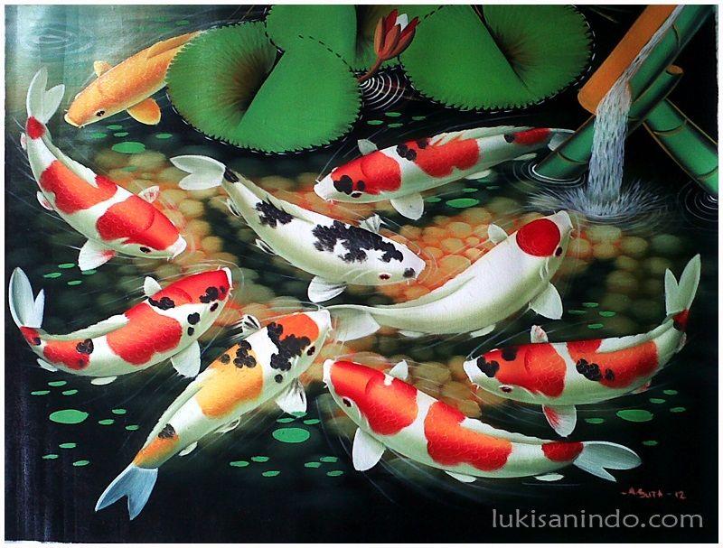 lukisan ikan koi yang bagus