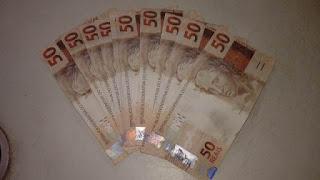 Notas falsas de R$ 50,00