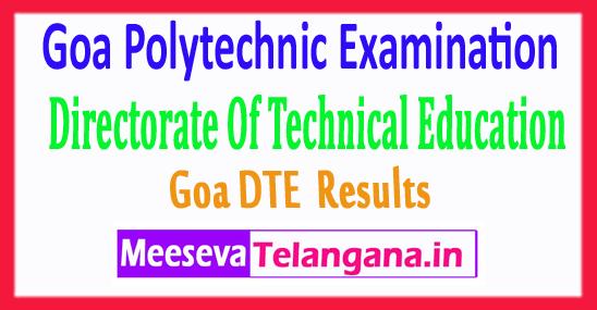 Goa Polytechnic GDET Results 2017