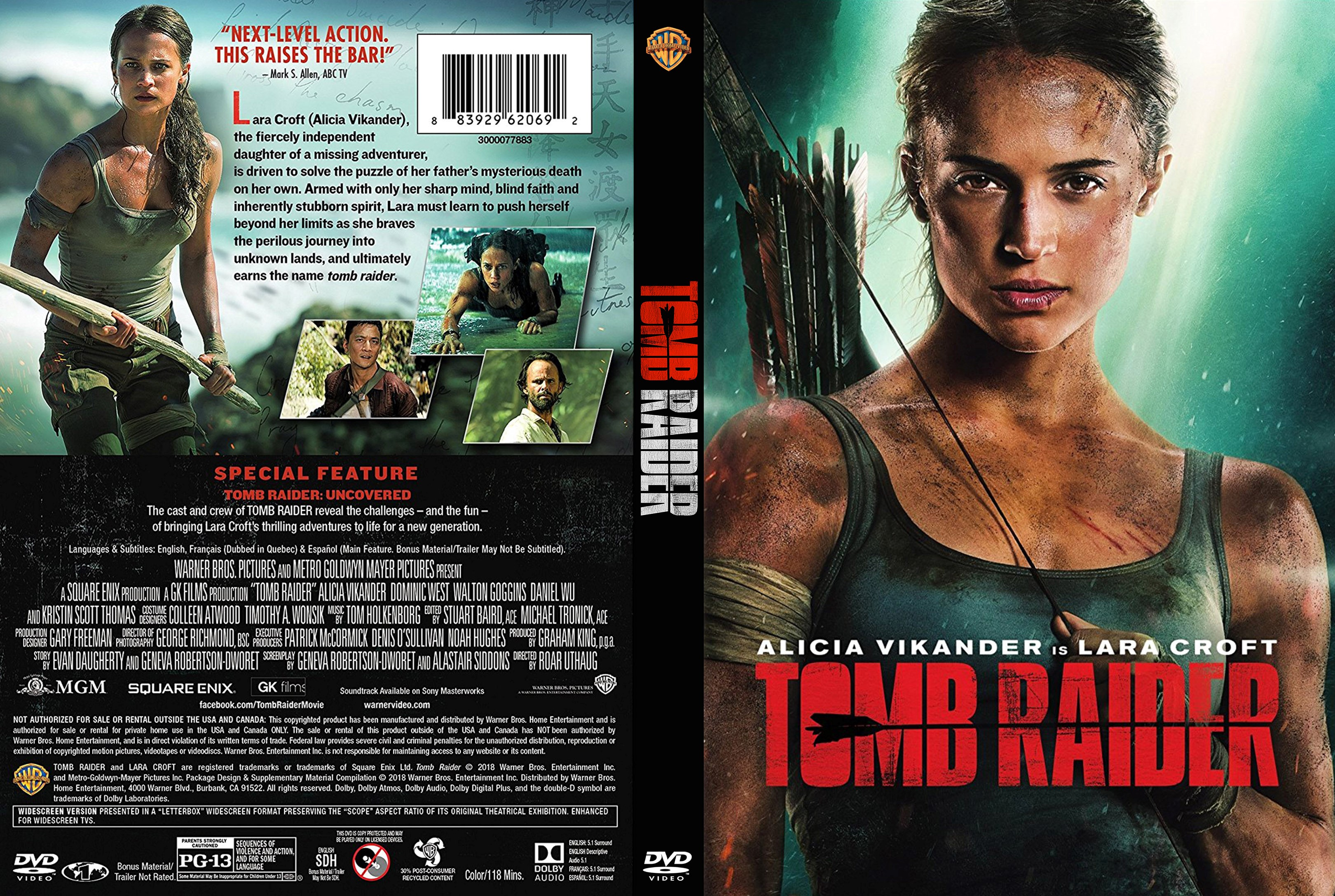 Tomb Raider (scan) DVD Cover | Cover Addict - Free DVD ...