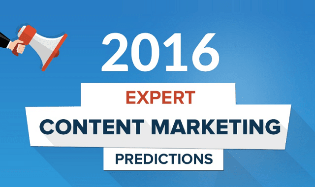 2016 Expert Content Marketing Predictions