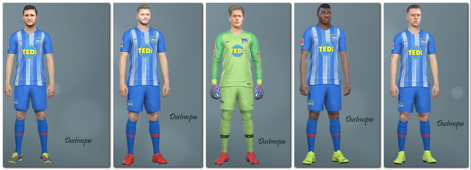 PES 2019 Mini Face Herta Berlin by Dustmcpw