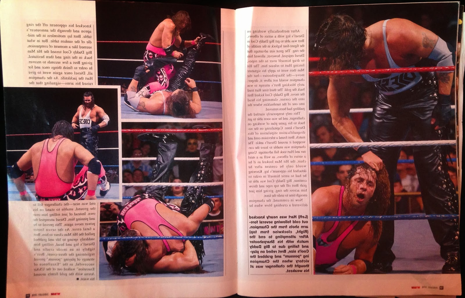 WWE: WWF RAW MAGAZINE - January 1998 - More Bret Hart vs. Diesel coverage
