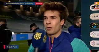 Puig happy with the little time his getting from Barcelona boss koeman
