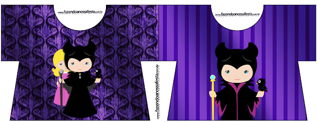 Maleficent Baby Party: Free Printable Invitations.