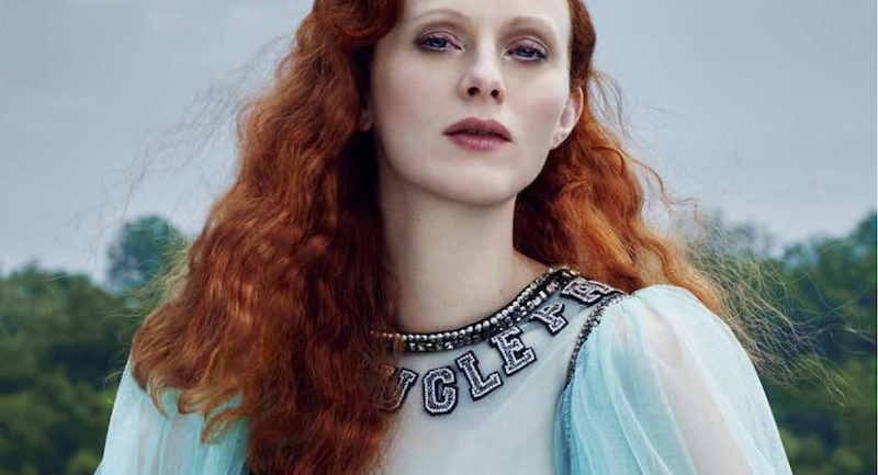 karen elson by rachell smith for harper's bazaar russia august 2016