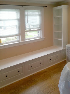 Custom Built-In Window Seat and Storage