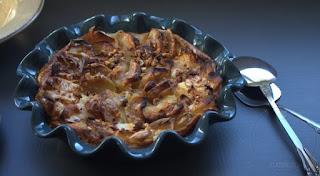 Pudin de Roscón de Reyes con manzanas reinetas