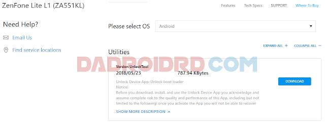 Cara Unlock Bootloader Asus ZenFone Live  Cara Unlock Bootloader Asus ZenFone Live (L1) ZA551KL