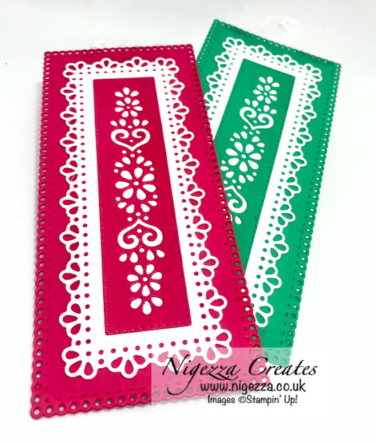 Nigezza Creates Bookmarks Using Ornate Layers From Stampin' Up!