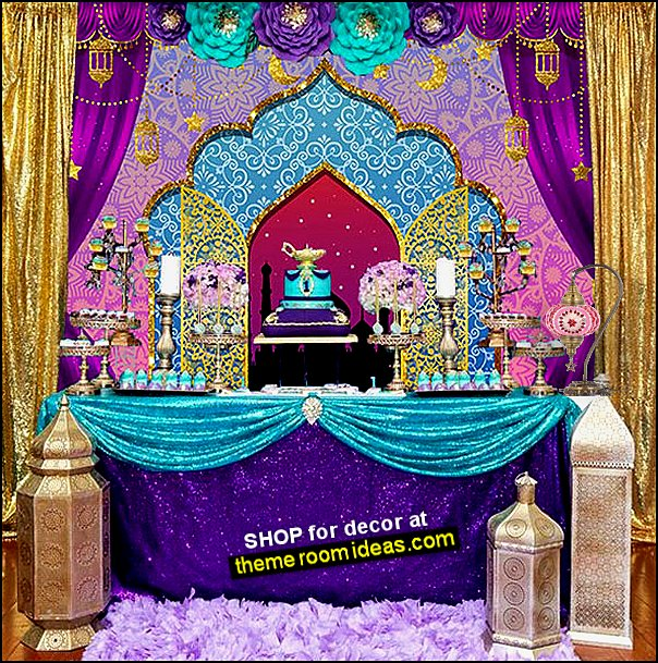 jasmine party aladdin party genie party arabian nights party moroccan decor