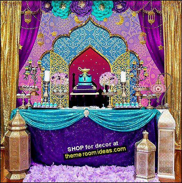 jasmine party aladdin party genie party arabian nights party moroccan decor
