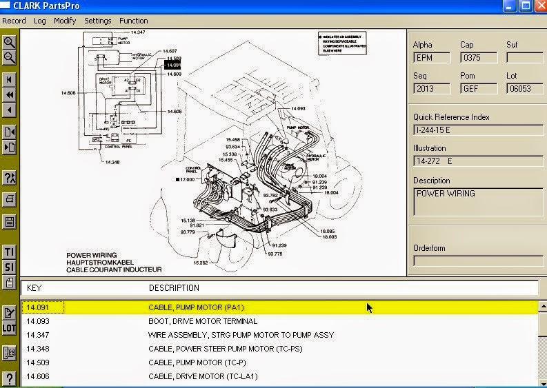 Clark Forklift Hydraulic Diagram: Auto Parts Catalogue: Clark