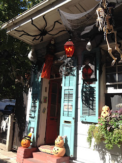 New Orleans French Quarter Halloween decorations
