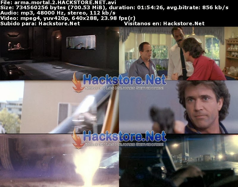 Captura Arma Mortal 2 (1989) DVDRip Latino