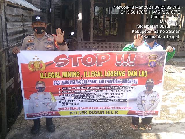 Kanitsabhara Polsek Dushil Sampaikan Larangan Ilegal Mining dan Stop Penggunaan Merkuri