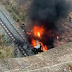 Soldado do CPRaio morre após carro despencar de ponte e incendiar no Cariri