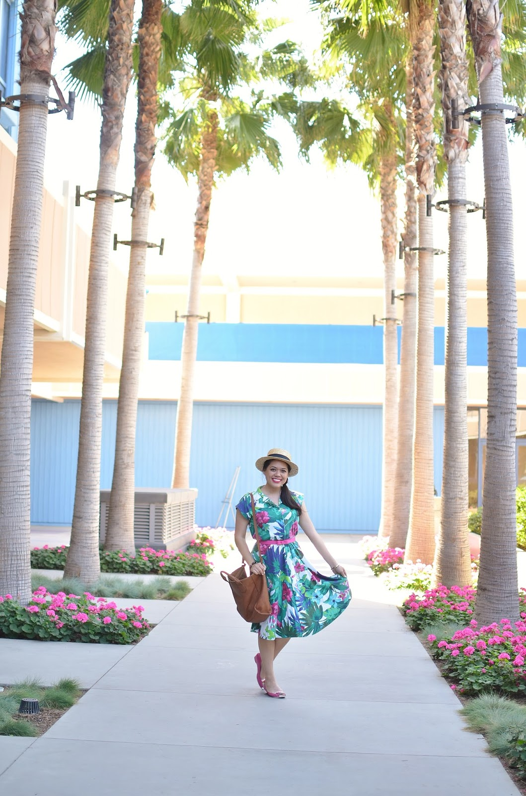Dapper Day Style Spring 2017 | Vintage Tropical Floral Dress & Melissa Velia Belt