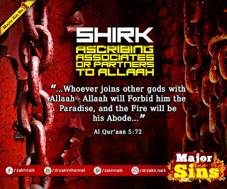 MAJOR SIN. 1. SHIRK - ASSOCIATES OR PARTNERS TO ALLAH | Kabira Gunah