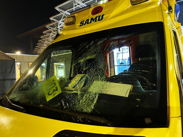 Dañan ambulancia del SAMU estacionada en el Hospital base de Osorno