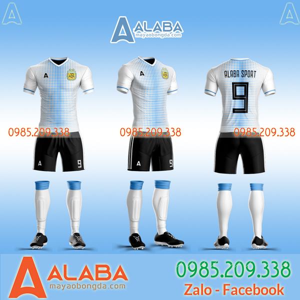 Áo đấu Argentina trắng 2020