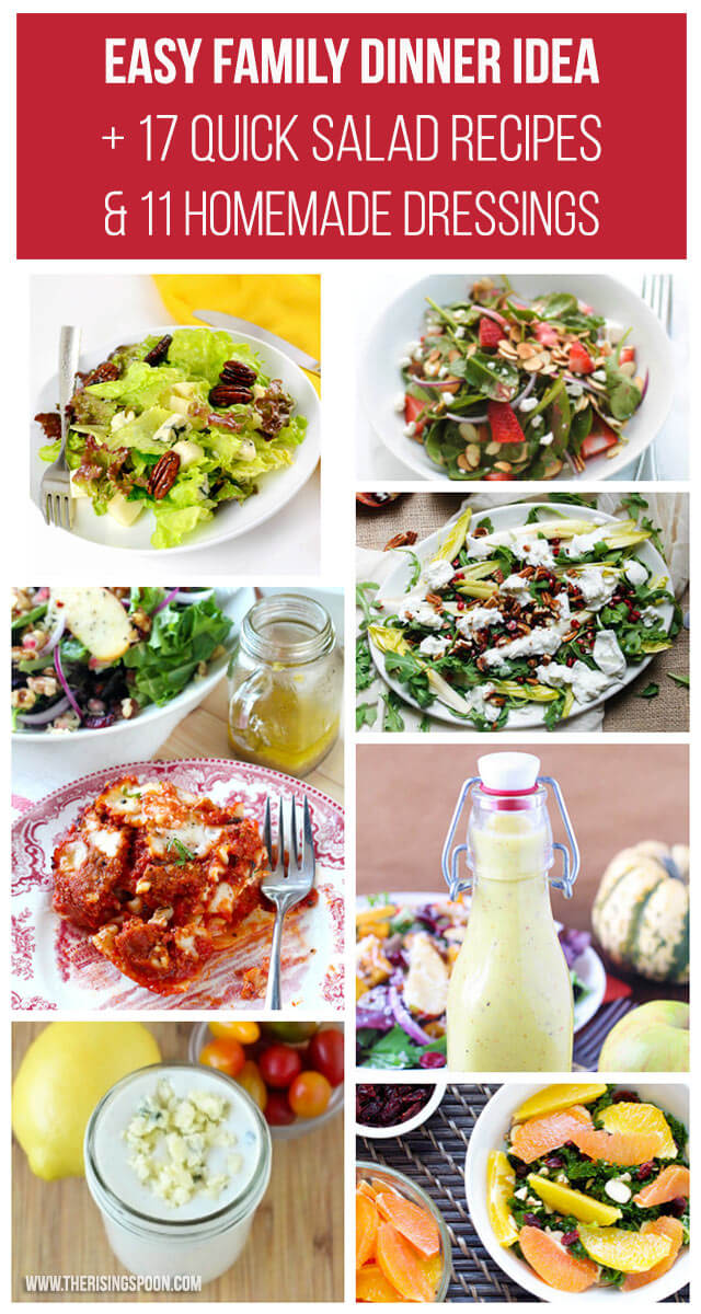 Easy Family Dinner Idea + 17 Quick Side Salads & 11 Homemade Dressings Recipes You Can Fix In Hurry