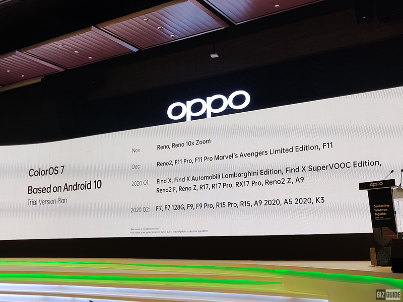 ColorOS 7 based on Android 10 Trial Version Plan