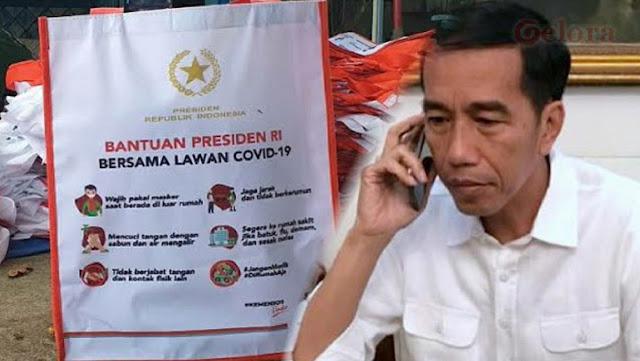 Miris! Bansos Tersendat karena Tas 'Bantuan Presiden' Belum Dicetak, Seolah-olah Itu Bantuan dari Kantong Jokowi