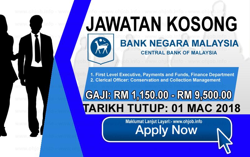 Jawatan Kerja Kosong Bank Negara Malaysia - BNM logo www.ohjob.info mac 2018