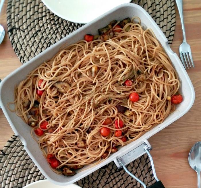 Receta de espaguetis integrales con verduras ¡Sanos, ricos y saludables!