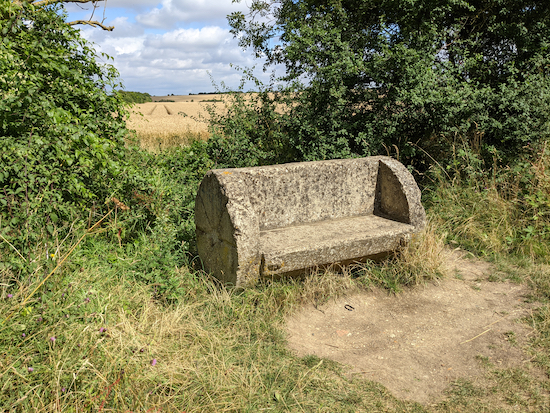 The bench on the left along Pirton bridleway 21