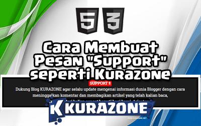 """Cara Membuat Pesan """"Support"""" seperti Kurazone"""
